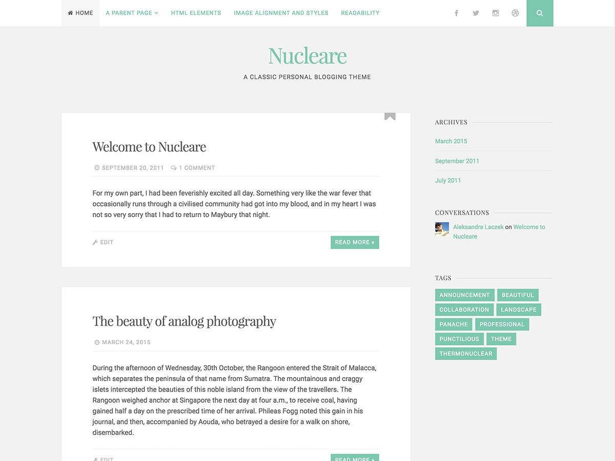 Nucleare - WordPress.com WordPress blog theme