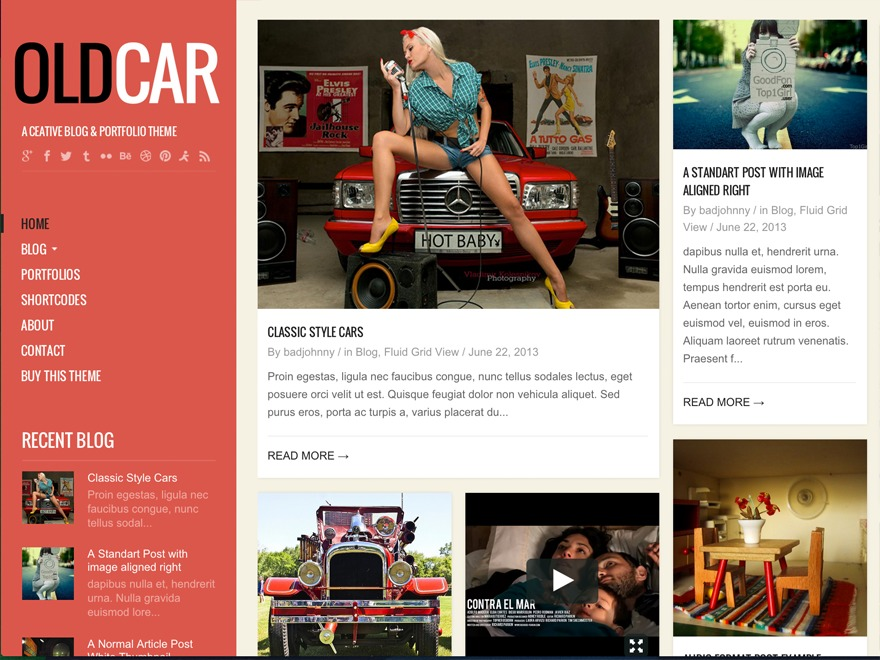 OldCar wallpapers WordPress theme