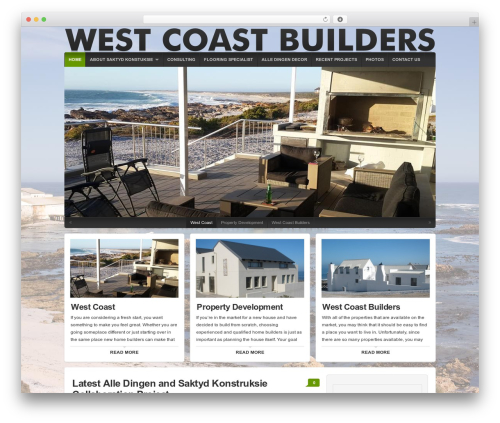 Organic Natural Theme WP template - westcoastbuilder.co.za