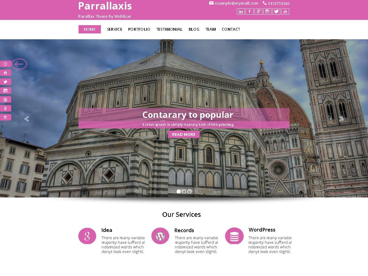 parallaxis free WP theme