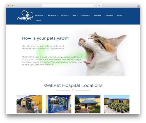 Pet best WordPress template - wellpet.com.au