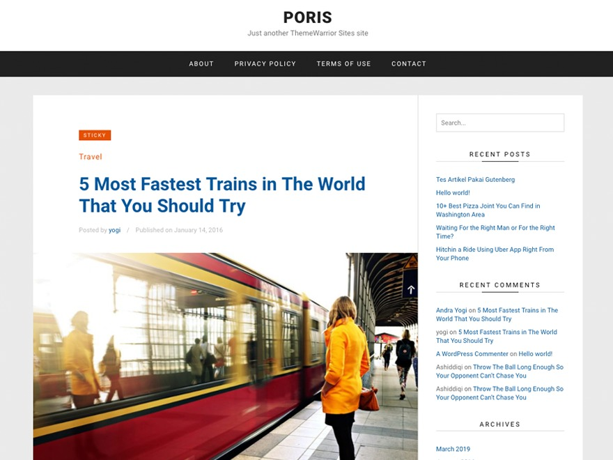 Poris WordPress free download