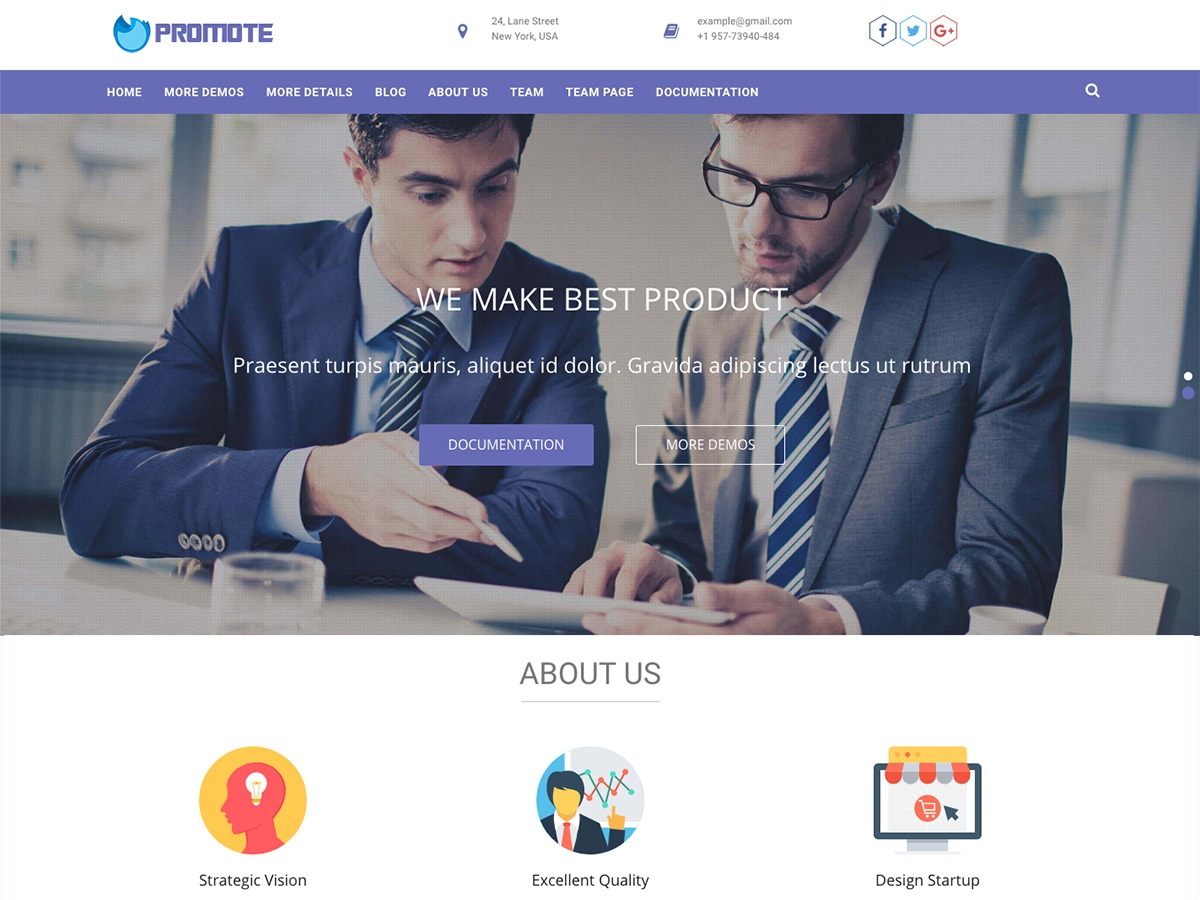 Promote theme free download