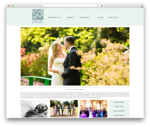 ProPhoto WordPress wedding theme - weddingphotographyboutique.co.uk