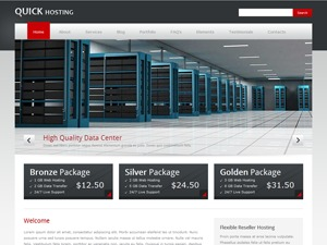 Quickhost company WordPress theme
