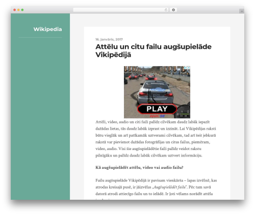 Rams WordPress theme design - wikipedia.lv