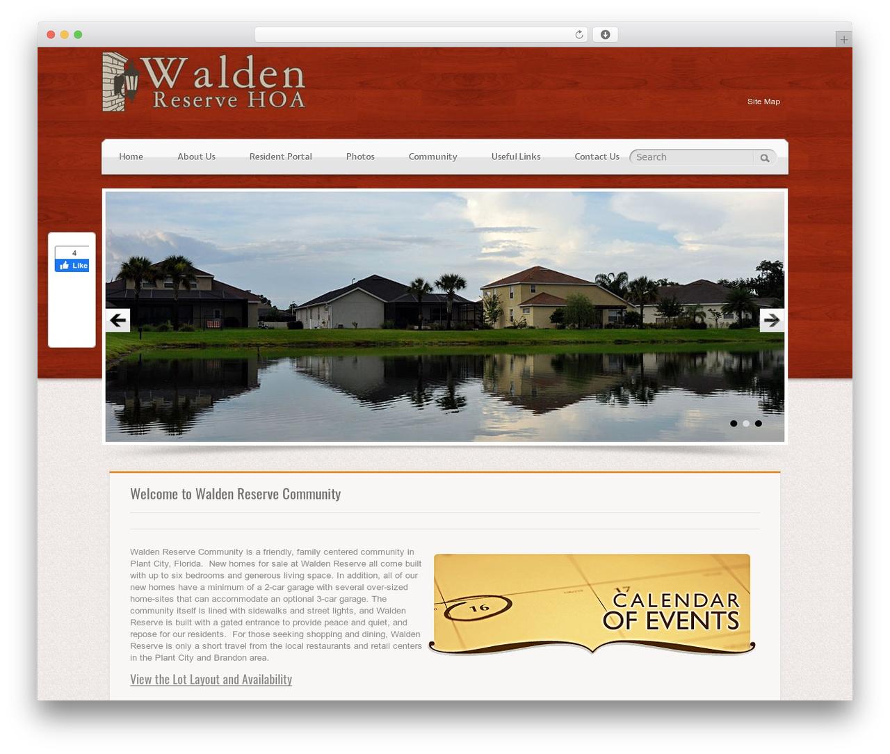 RealEstater template WordPress - waldenreservecommunity.com