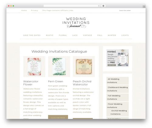 Refined Theme WP template - weddinginvitationsjournal.com
