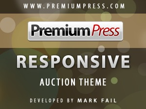 Responsive Auction Theme WP template