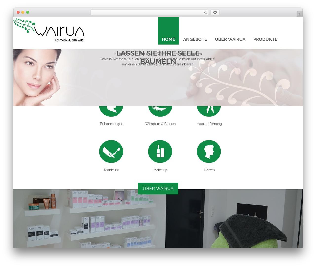 Responsive free WP theme - wairua.ch