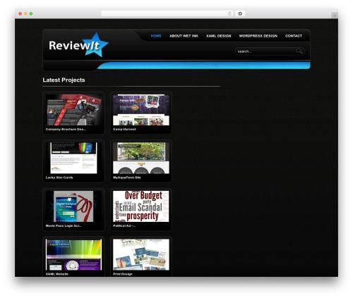 ReviewIt WordPress theme - wetinkpro.com