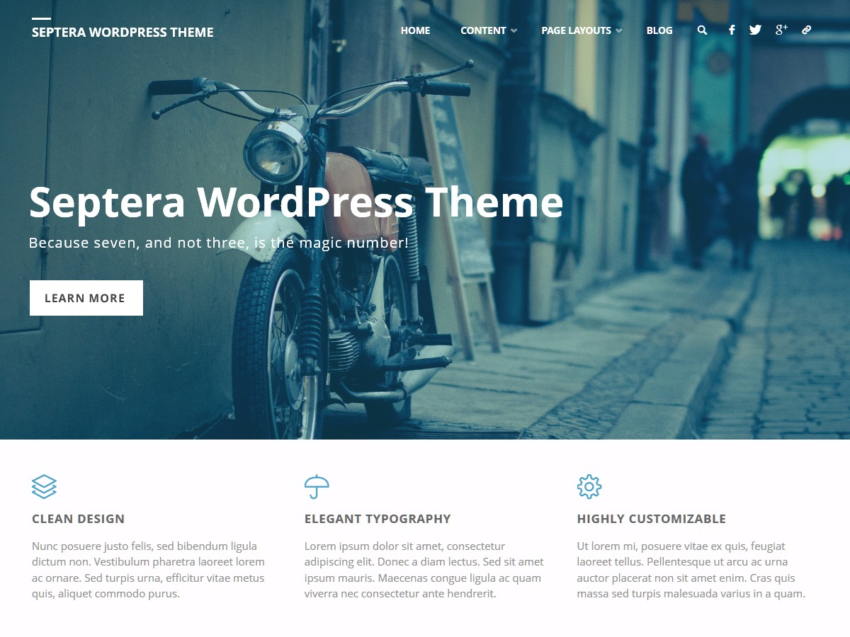 Septera free WordPress theme