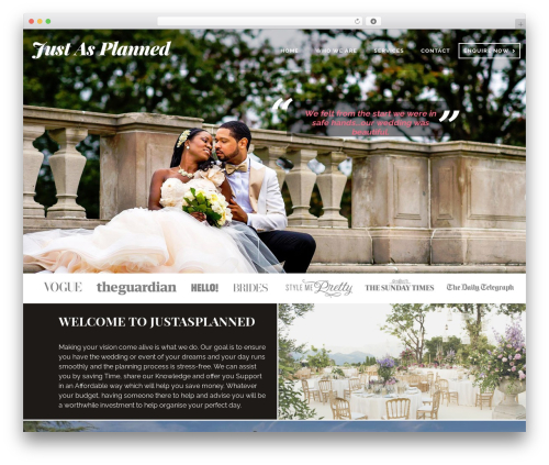 Somebody Child Theme best wedding WordPress theme - weddingluxuryplanner.com