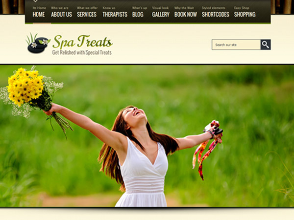 Spa Treats WordPress restaurant theme