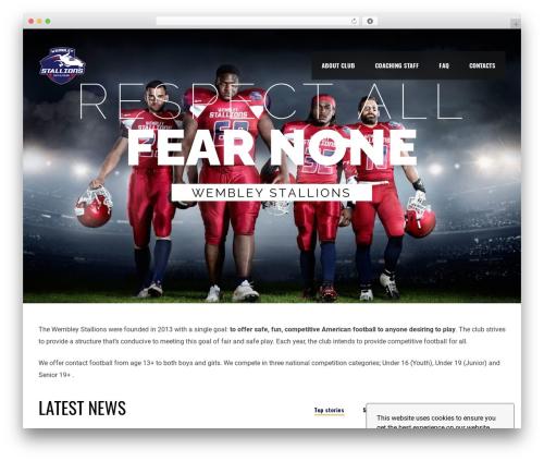 Free WordPress SportsPress – Sports Club & League Manager plugin - wembleystallions.co.uk