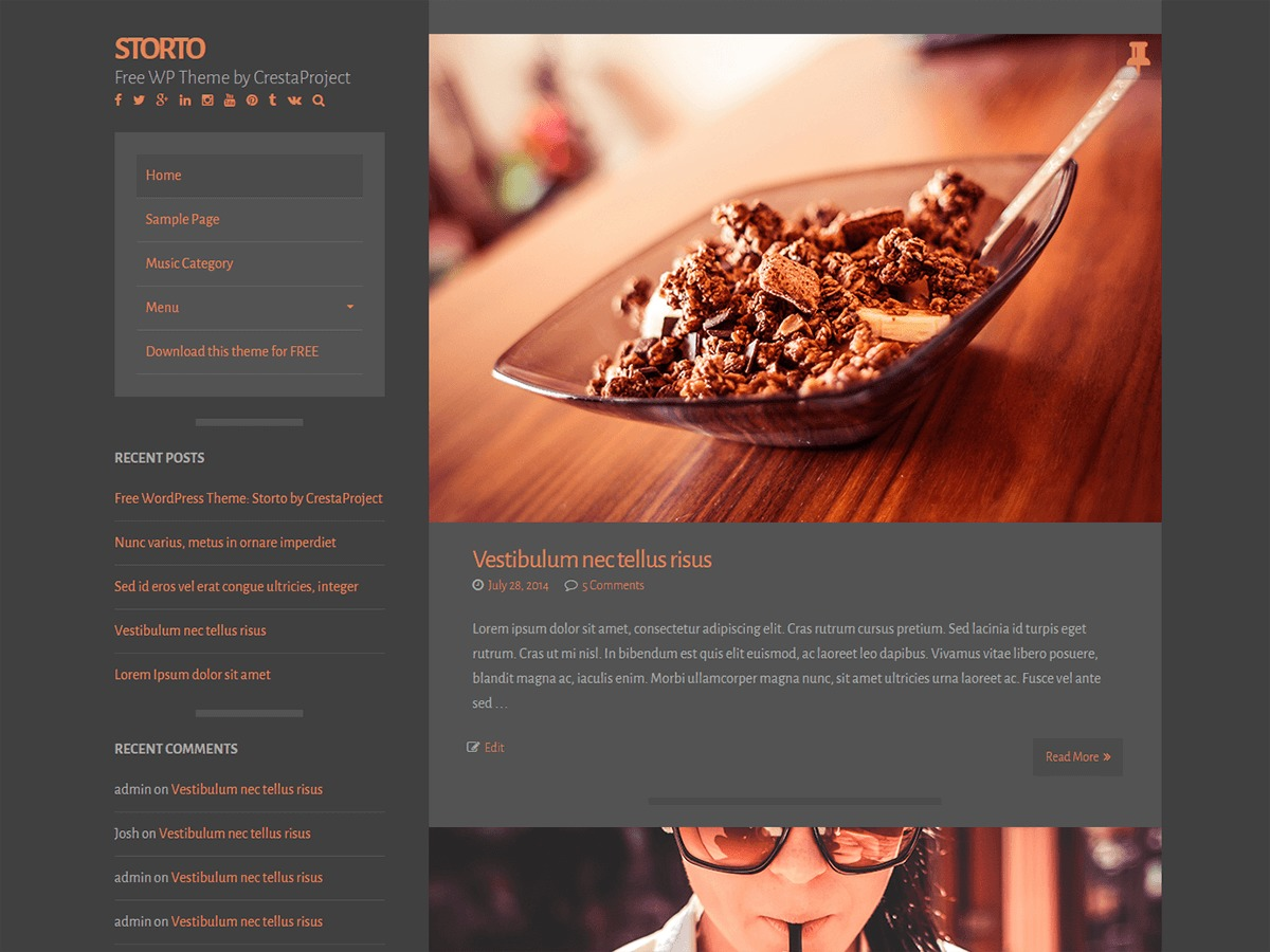 Storto template WordPress free
