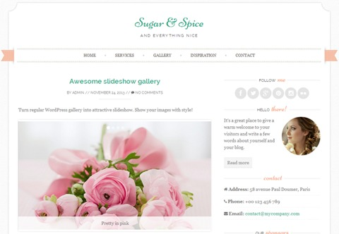 Sugar and Spice WordPress theme image
