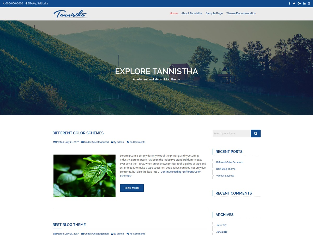 Tannistha WordPress photo theme