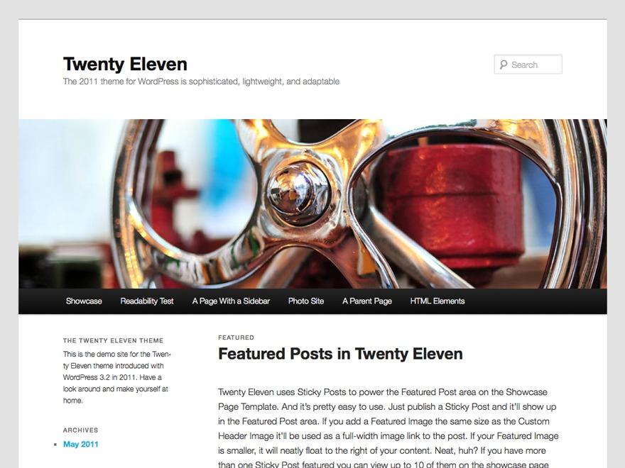 Template WordPress Twenty Eleven Child 01