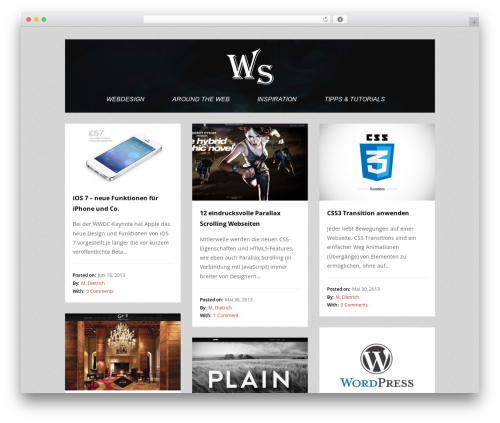 Tetris WordPress blog template - webdesign-spot.de