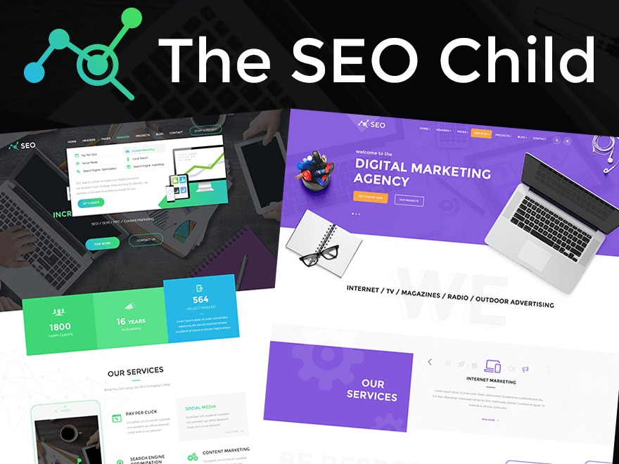 The SEO Child WordPress page template