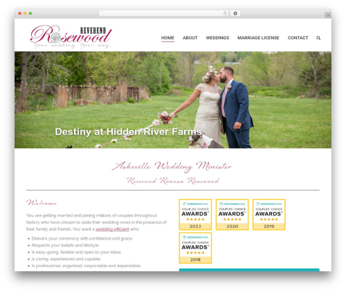 The7.2 WP theme - weddingministersasheville.com