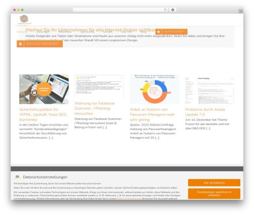 Theme WordPress Avada - web-by-michi.de