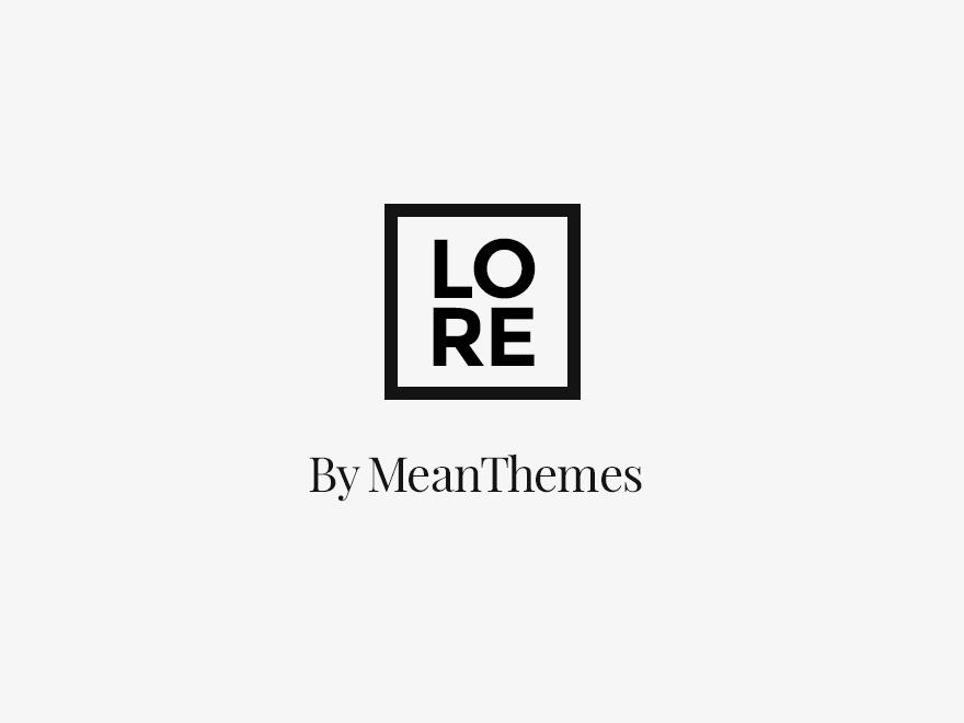 Theme WordPress Lore