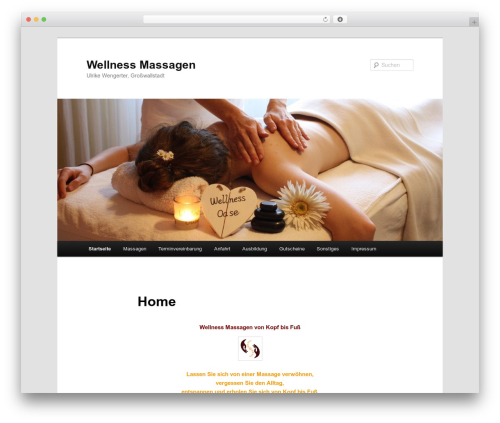 Theme WordPress Twenty Eleven - wellnessmassagen.biz