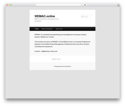 Twenty Eleven best free WordPress theme - wemac-online.com