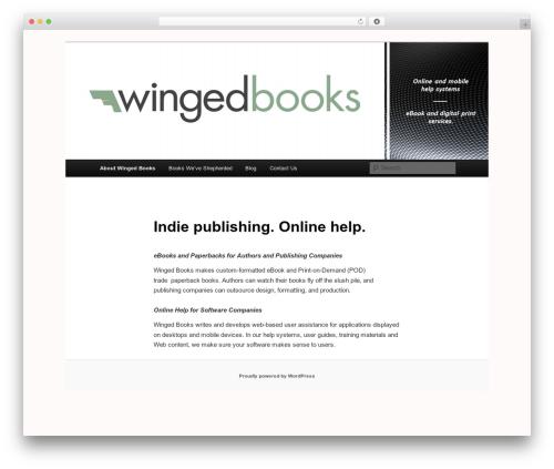 Twenty Eleven template WordPress free - wingedbooks.com
