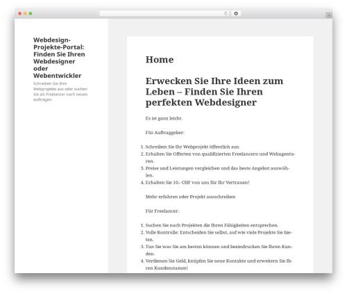 Twenty Fifteen free website theme - webdesign-projekte.ch