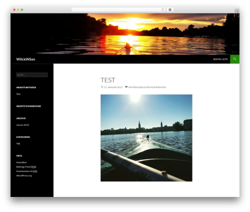 Twenty Fourteen best free WordPress theme - wilckinson.de