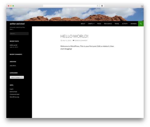Twenty Fourteen WordPress theme free download - walbino.com