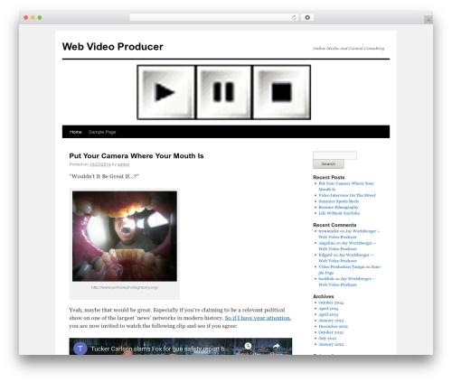 Twenty Ten WordPress movie theme - webvideoproducer.com