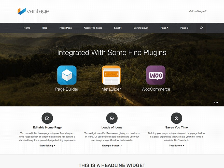 vantage-child WP theme