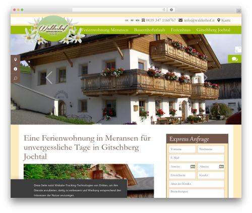 Walderhof.it WordPress theme - walderhof.it