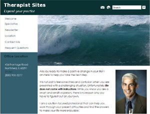Waves free WordPress theme