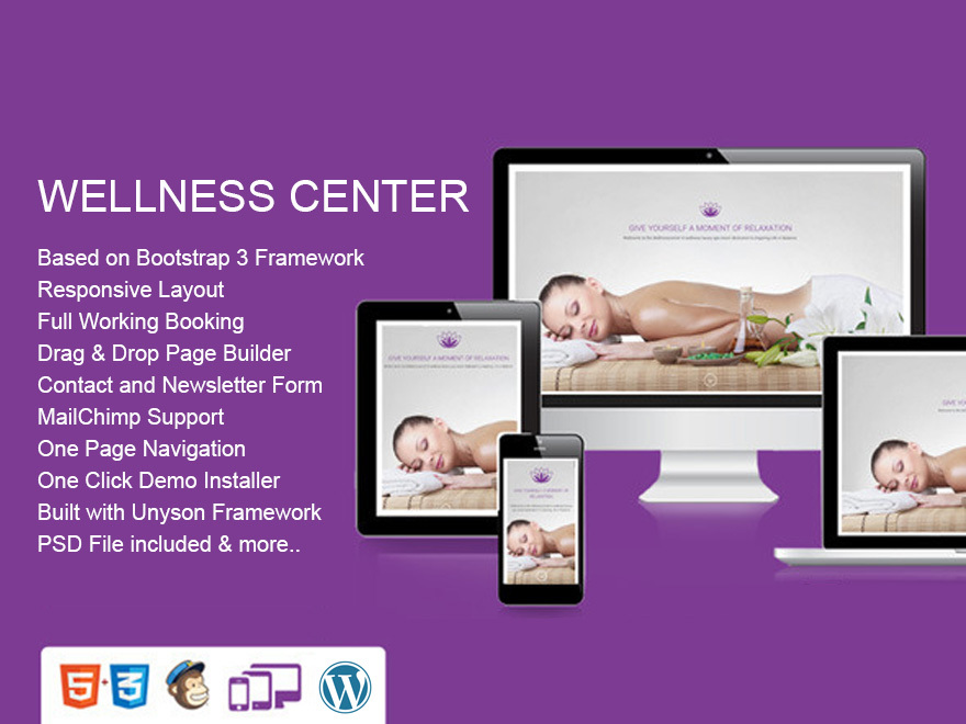 WellnessCenter WordPress template for business