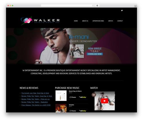 WordPress template Music Pro - wemgmt.com