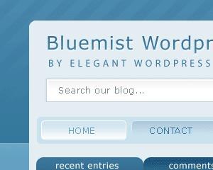 WordPress theme Bluemist