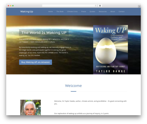 WordPress theme FlatBook - wakingupjourney.com