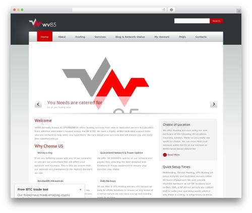 WordPress theme Quickhost - wv85.com