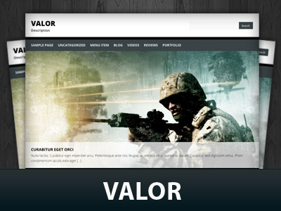 WordPress theme Valor