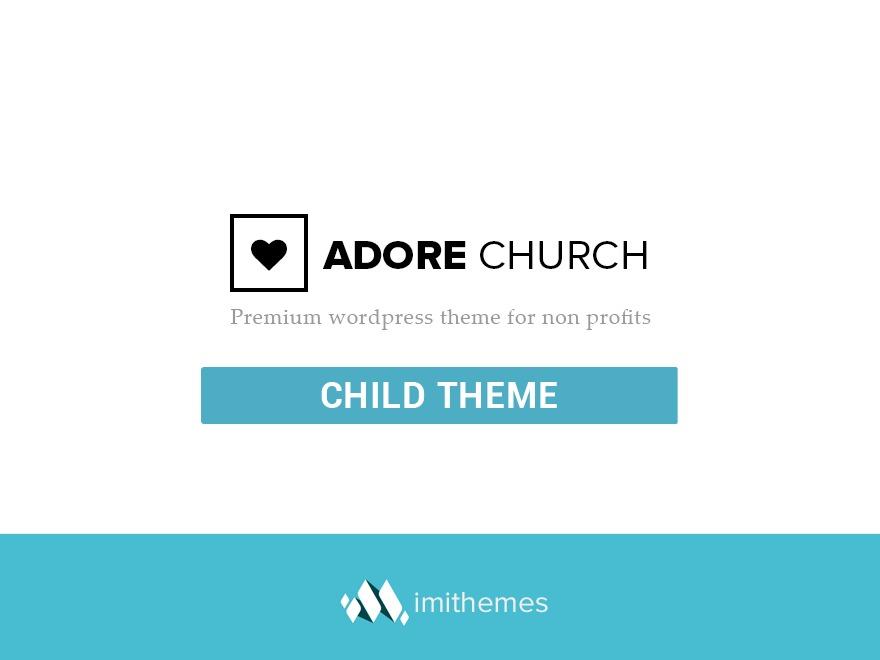 WordPress website template adore Child Theme