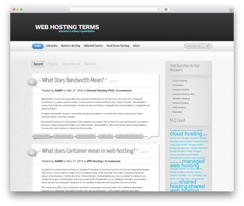 WordPress website template AskIt - webhostingterms.com