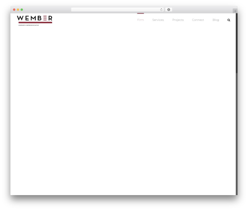 WordPress website template Avada - wemberinc.com