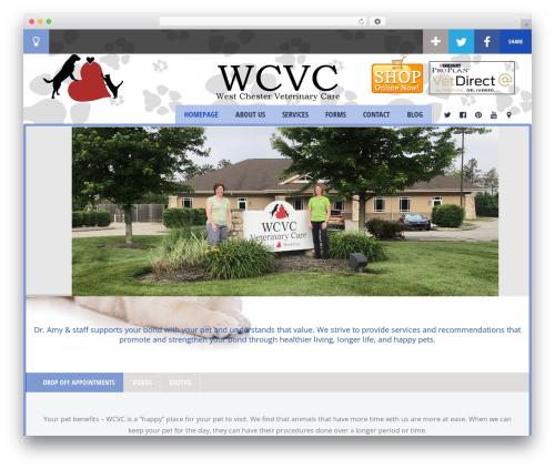 WordPress website template Doctor+ - westchesterveterinarycare.com