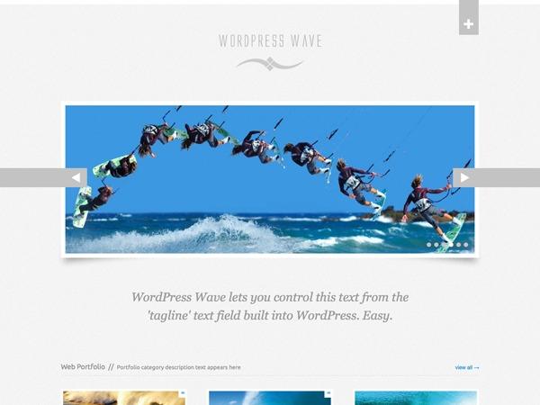 WordPress website template WordPress Wave