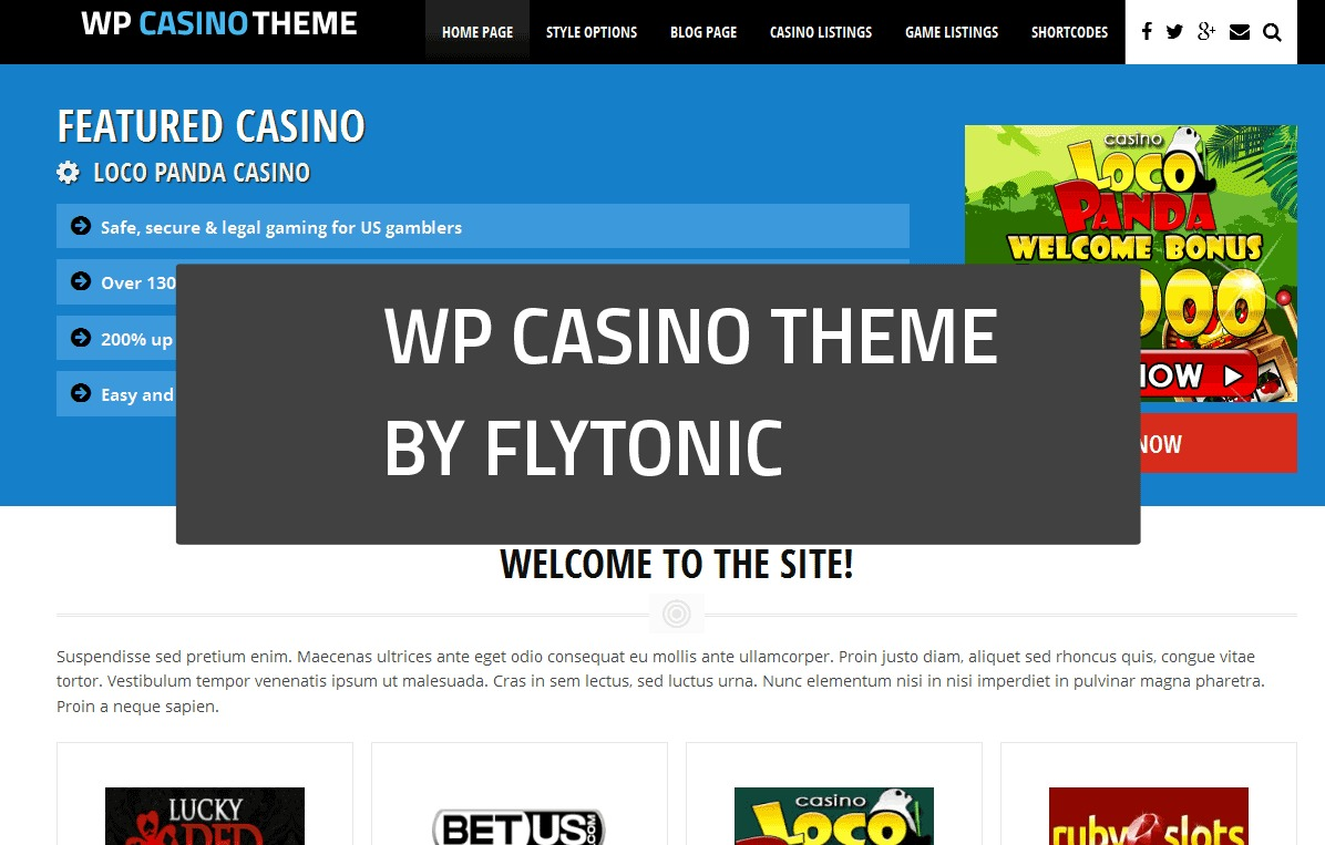 WP Casino Theme premium WordPress theme